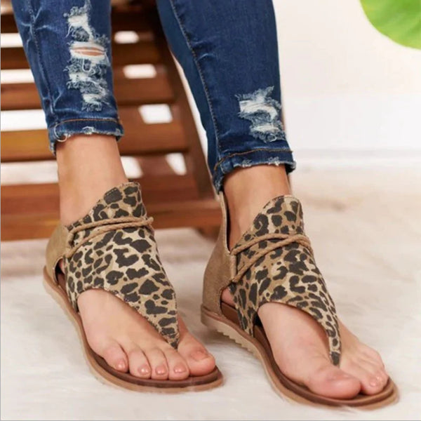 Jessi Animal Print Sandal - Dark Brown