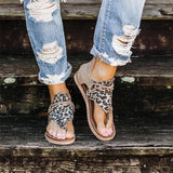 Jessi Animal Print Sandal - Light Brown