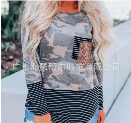 Penelope Pink & Grey Camo Long Sleeve