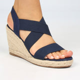Saffron Wedge - Navy