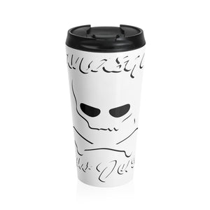 """Squan Jolly Roger: Stainless Steel Travel Mug"