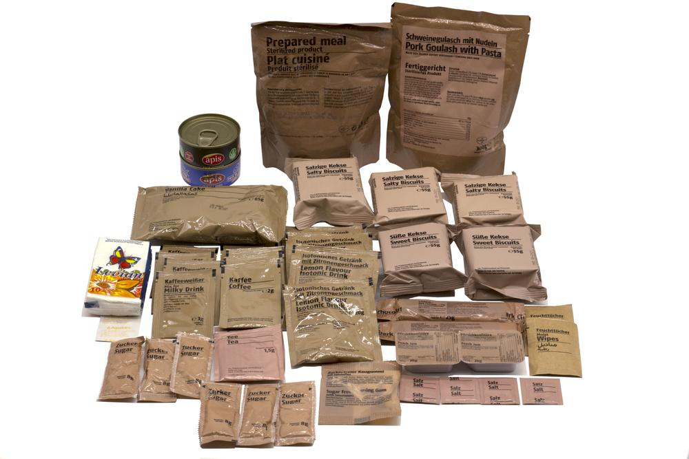 Foreign MREs and 24 hour combat ration packs