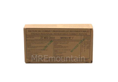 French RCIR army military MRE ration pack