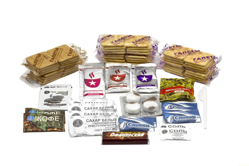 FULL CASE OF RUSSIA MCHS (EMERCOM) INDIVIDUAL 24 HOUR RATION