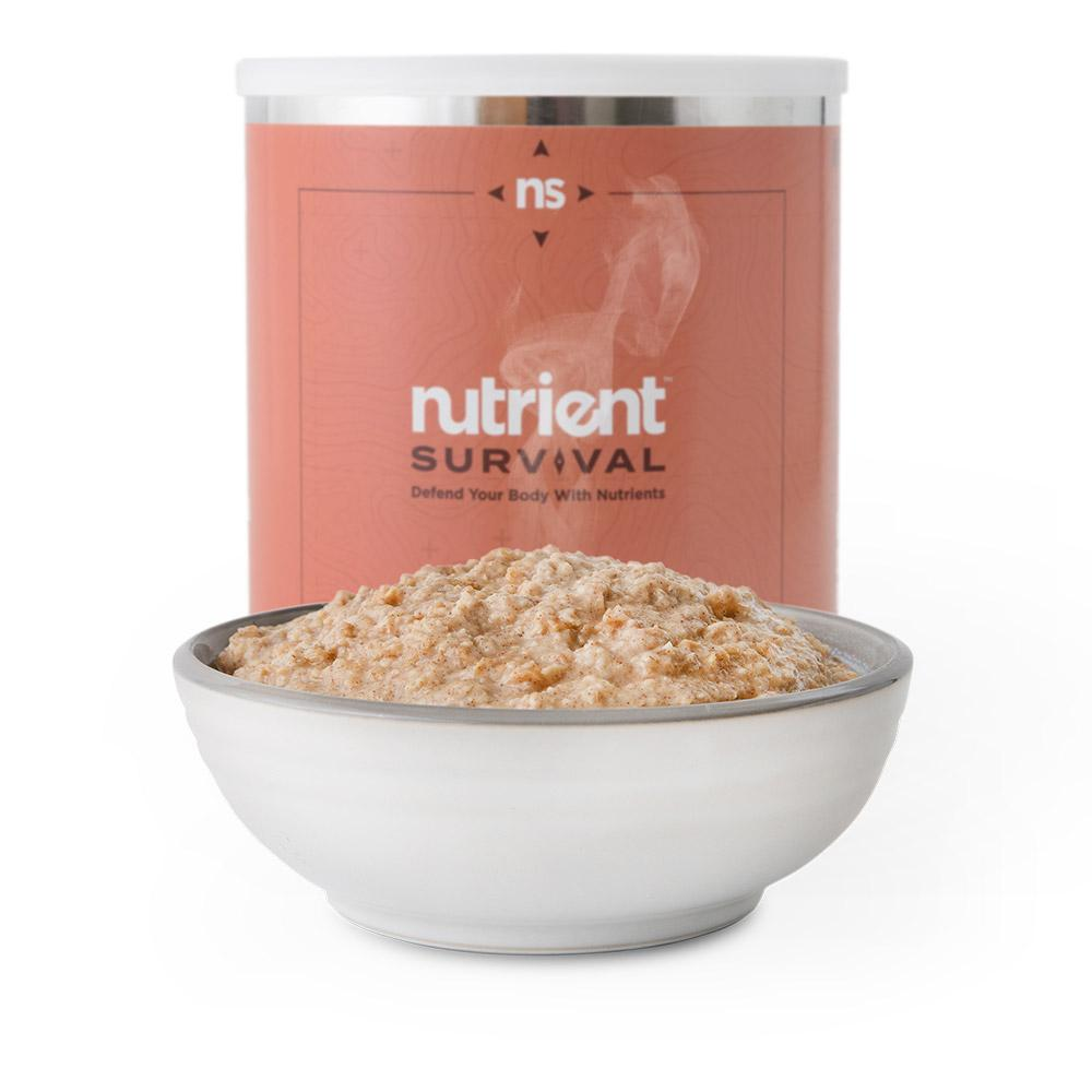 Nutrient Survival Hearty Apple Cinnamon Oatmeal