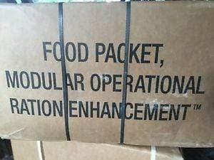 USA MORE MRE Modular Operational Ration Enhancement Case of 24