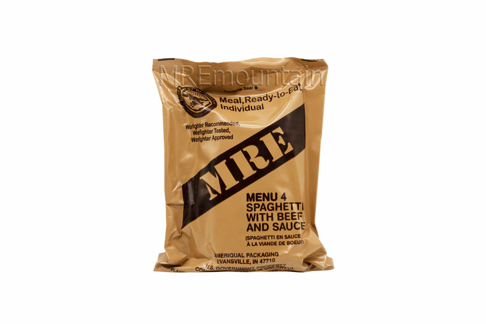 CAMPING,HIKING,FISHING.PRE US MRE RATION PACK MENU 2 BEEF SHREDDED IN BBQ SAUCE
