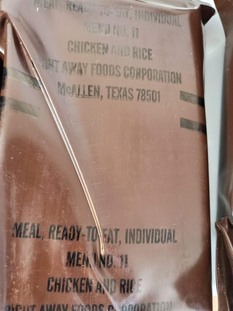 Vintage 1992 USA MRE Brown Bag MINT condition
