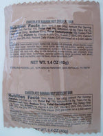 USA MRE Chocolate Banana Nut Dessert Bar