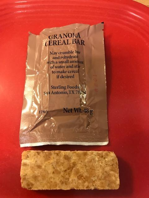 USA Granola Cereal Bar Food Packet Survival General Purpose