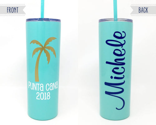 Custom Vacation Skinny Stainless Steel Cup