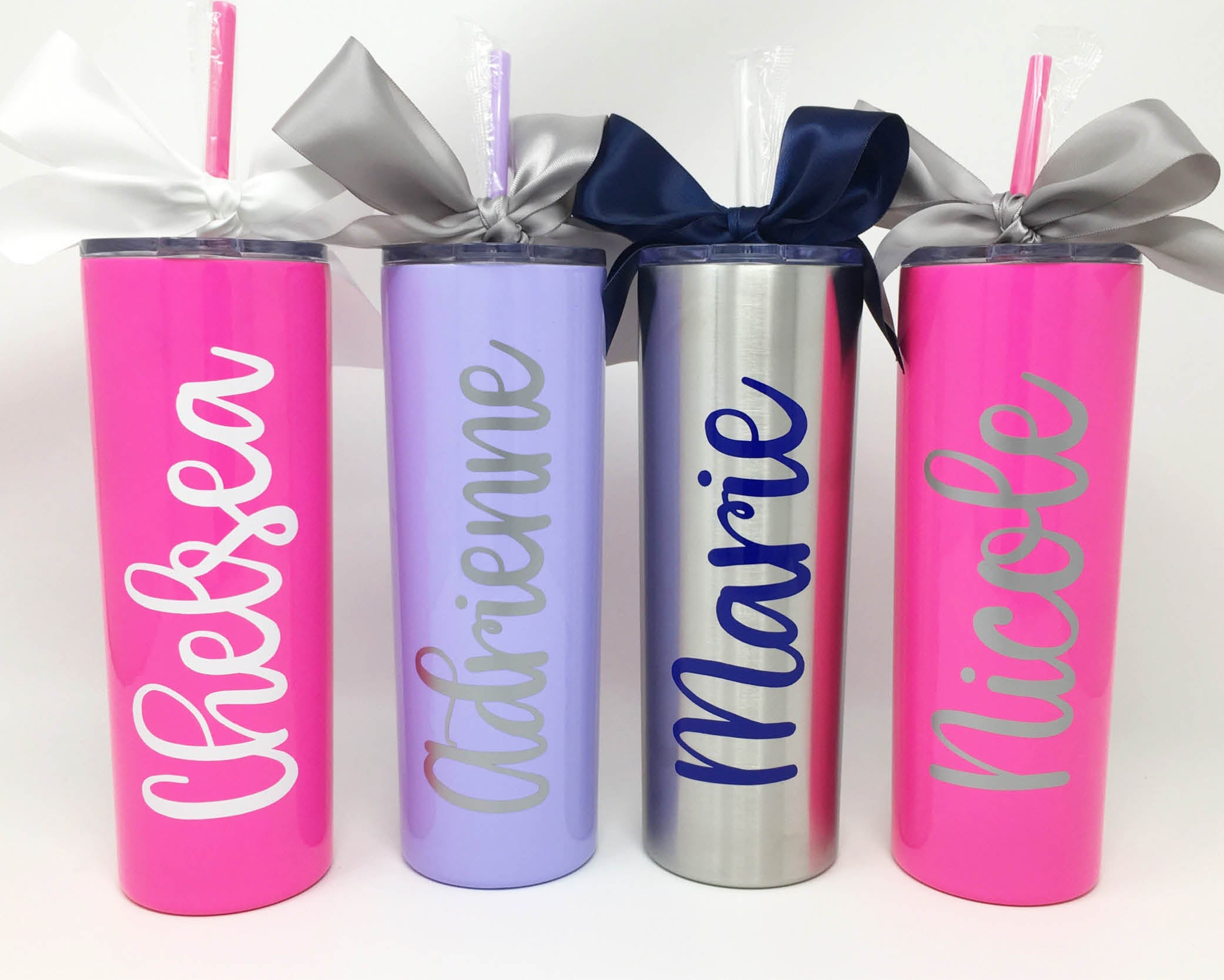 Personalized Skinny Stainless Steel Tumbler Initially Yours