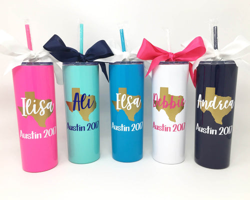personalized stainless steel girls weekend tumblers