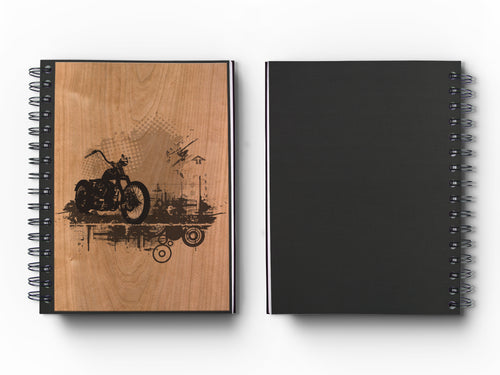 Personal Journal : Woodworks Hardcover Executive Journal for Art, Design, Business & Personal Discovery. Studio-Made. Abstract Art on Real Hardwood Cover Finish (Classic 5.5