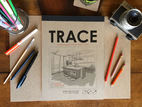 Pad: Premium Paper Tracing Pad for Pencil, Ink, and Marker. Great for Art, Design and Education.