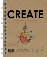 "LS CREATE (8.5"" x 11""): Premium Multi-Media Paper Book for Pencil, Ink, Marker, Charcoal and Watercolor Paints. Great for Art, Design and Education."