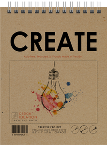"Design Ideation TS CREATE (8.5"" x 11""): Creative Project Paper Book"