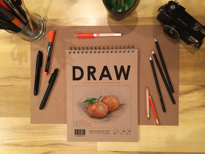 Book: Premium Paper Drawing Books for Pencil, Ink, Marker, Charcoal and Watercolor Paints. Great for Art, Design and Education.