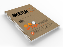 Orange Media SKETCH : Premium Paper Multi-Media Sketch Project Book for Pencil, Ink, Marker, Charcoal and Watercolor Paints. Great for Art, Design and Education.
