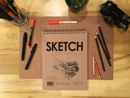 Book: Premium Paper Sketch Book for Pencil, Ink, Marker, Charcoal and Watercolor Paints. Great for Art, Design and Education.