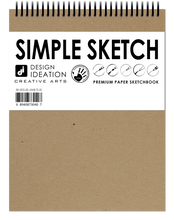 "SB SIMPLE SKETCH Spiral Bound SIMPLE SKETCH Sketchbook : Multi-media Book (8.5"" x 11"")"