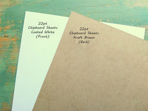 Pack: Chipboard Sheets, White. Great for creative projects and protecting valuable photos and documents.
