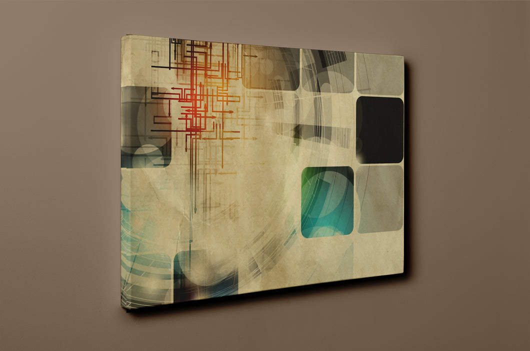 Gallery Wrap Artwork : Print of Original Abstract on Canvas - B0017