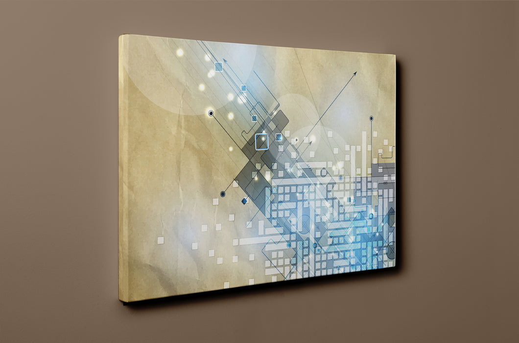 Gallery Wrap Artwork - B0033 : Print of Original Abstract on Canvas
