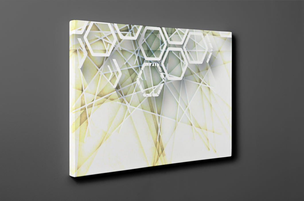 Gallery Wrap Artwork : Print of Original Abstract on Canvas - B0018