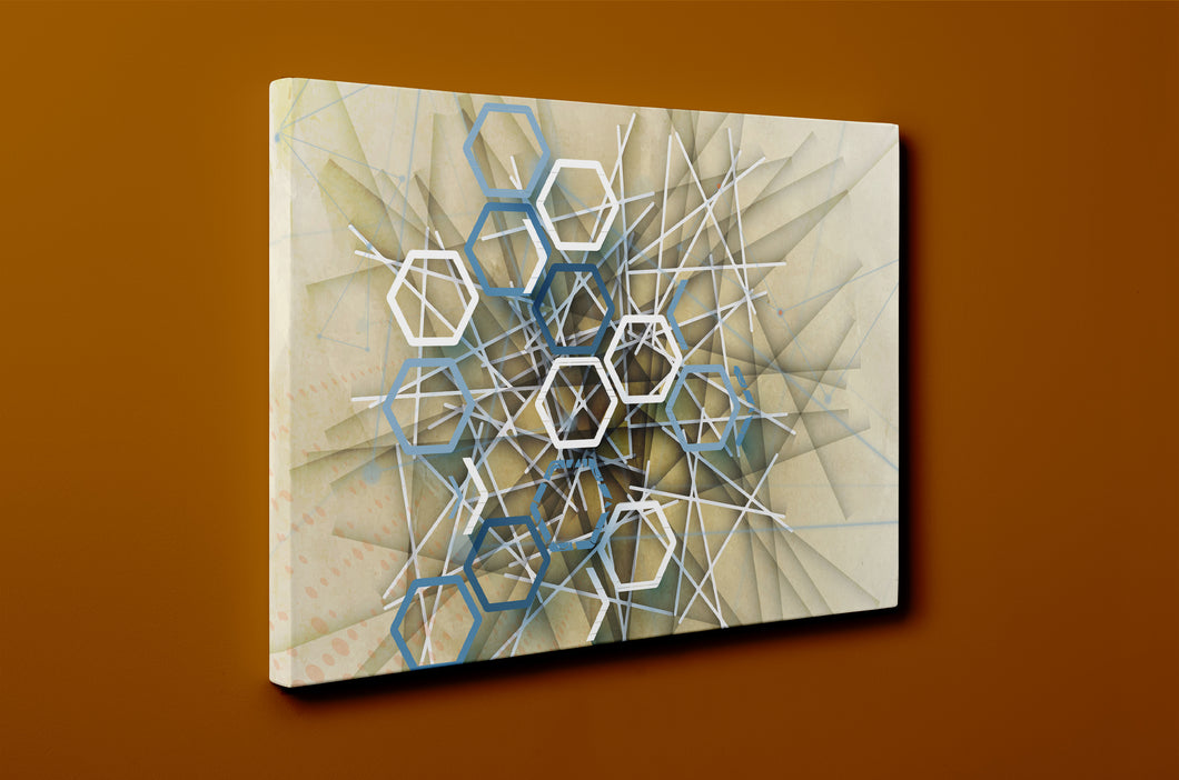 Gallery Wrap Artwork - A0019 : Print of Original Abstract on Canvas