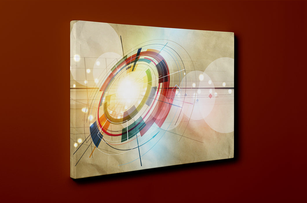 Gallery Wrap Artwork - C0058 : Print of Original Abstract on Canvas