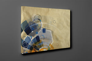 Gallery Wrap Artwork - C0062 : Print of Original Abstract on Canvas