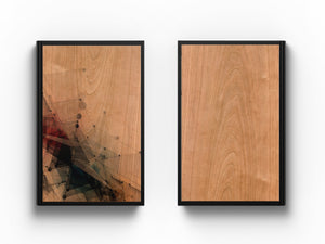 "Personal Journal : Woodworks Hardcover Executive Journal for Art, Design, Business & Personal Discovery. Studio-Made. Abstract Art on Real Hardwood Cover Finish (Classic 5.5"" x 8.5"" Natural Cherry Hardwood)"