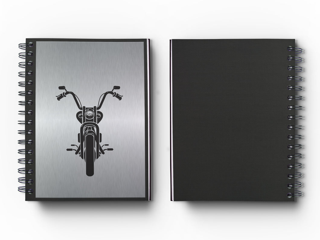 Journal: Metalworks Hardcover Vintage Motorcycleq Journal for Art, Design, Business & Personal Discovery. Studio-Made. Abstract Art on Real Metal Cover Finish (Classic 5.5