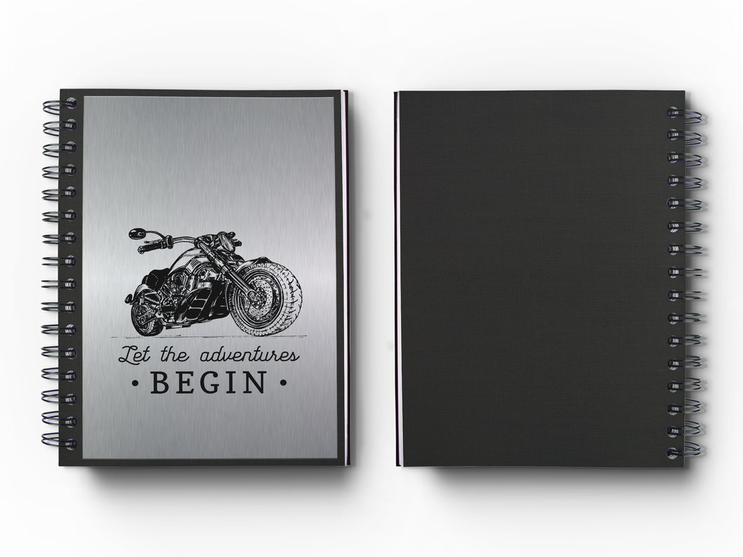 Journal: Metalworks Hardcover Vintage Motorcycle Journal for Art, Design, Business & Personal Discovery. Studio-Made. Abstract Art on Real Metal Cover Finish (Classic 5.5