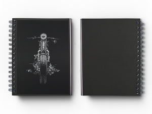 "Journal: Metalworks Hardcover Vintage Motorcycle Journal for Art, Design, Business & Personal Discovery. Studio-Made. Abstract Art on Real Metal Cover Finish (Classic 5.5""x8.5"" Natural Aluminum)"