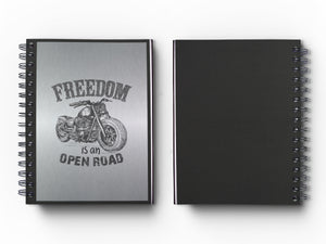 "Journal: Metalworks Hardcover Vintage Motorcycle Journal for Art, Design, Business & Personal Discovery. Studio-Made. Art on Real Metal Cover Finish (Classic 5.5""x8.5"" Natural Aluminum)"