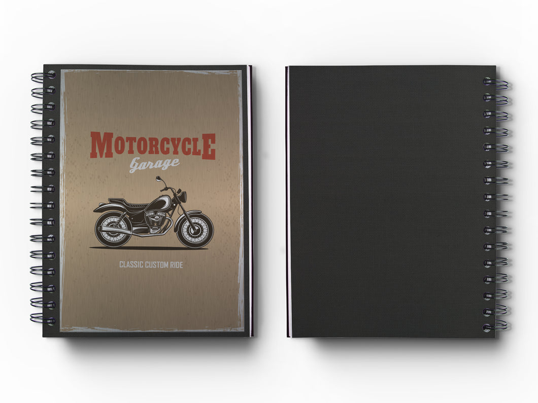 Journal: Metalworks Hardcover Vintage Motorcycle Journal for Art, Design, Business & Personal Discovery. Studio-Made. Art on Real Metal Cover Finish (Classic 5.5