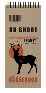 Perfect Strike Archery 3D Shoot SCOREBOOK with Rules and Scoring Diagrams : Heavy Duty. Great for Practice and Competition.