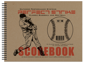 Perfect Strike Baseball SCOREBOOK with Rules and Scoring Instructions : Heavy Duty. Great for Youth and Adult Baseball or Softball.