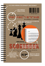 Perfect Strike Chess SCOREBOOK with Rules and Scoring Instructions. 25:60