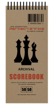 Perfect Strike Chess SCOREBOOK with Rules and Scoring Instructions. 50:50