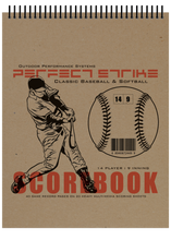 Perfect Strike SIMPLE Baseball Scorebook and Game Mangement System : Heavy Duty. Great for Youth Baseball or Softball.