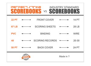 Perfect Strike Basketball SCOREBOOK with Rules and Scoring Instructions : Heavy Duty. Great for Youth and Adult Basketball.
