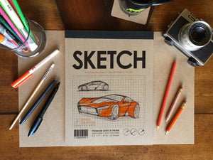Pad: Premium Paper Sketch Pad for Pencil, Ink, Marker, Charcoal and Watercolor Paints. Great for Art, Design and Education.