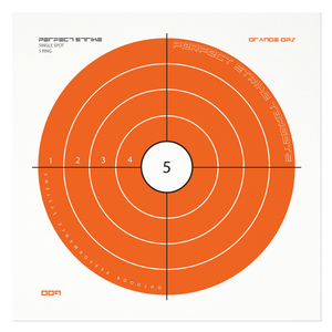 "Perfect Strike Shooting TARGETS. Orange OPS 009. Heavy Paper Shooting Targets. Great for Practice Outdoors or at The Range. (12"" x 12"") (12 Targets)"