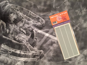 "Perfect Strike ARCHERY Arrow Wraps. LIGHT GREY. Great for practice at the range or in the back yard. Adhesive backed premium vinyl arrow wraps. 7"" Arrow Wraps. (12)"