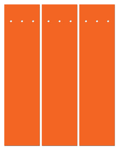"Perfect Strike ARCHERY Arrow Wraps. ORANGE. Great for practice at the range or in the back yard. Adhesive backed premium vinyl arrow wraps. 4"" Arrow Wraps. (12)"
