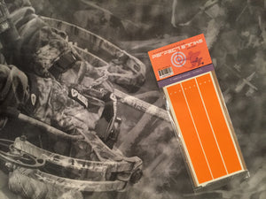 "Perfect Strike ARCHERY Arrow Wraps. ORANGE. Great for practice at the range or in the back yard. Adhesive backed premium vinyl arrow wraps. 7"" Arrow Wraps. (12)"