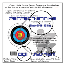 "Perfect Strike ARCHERY System Targets. CLASSIC OPS No. 001. Single Spot Targets. Heavy paper practice targets. Great for improving accuracy. 12"" x 12"". (24 Targets.)"